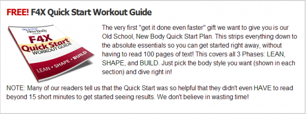 Free F4X workout guide